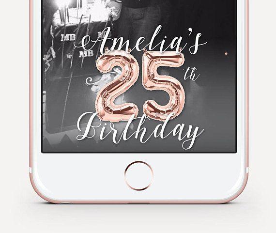 Birthday Snapchat Geofilter Rose Gold Birthday Geofilter Etsy Snapchat Geofilters Birthday Snapchat Birthday Filter Birthday Filter