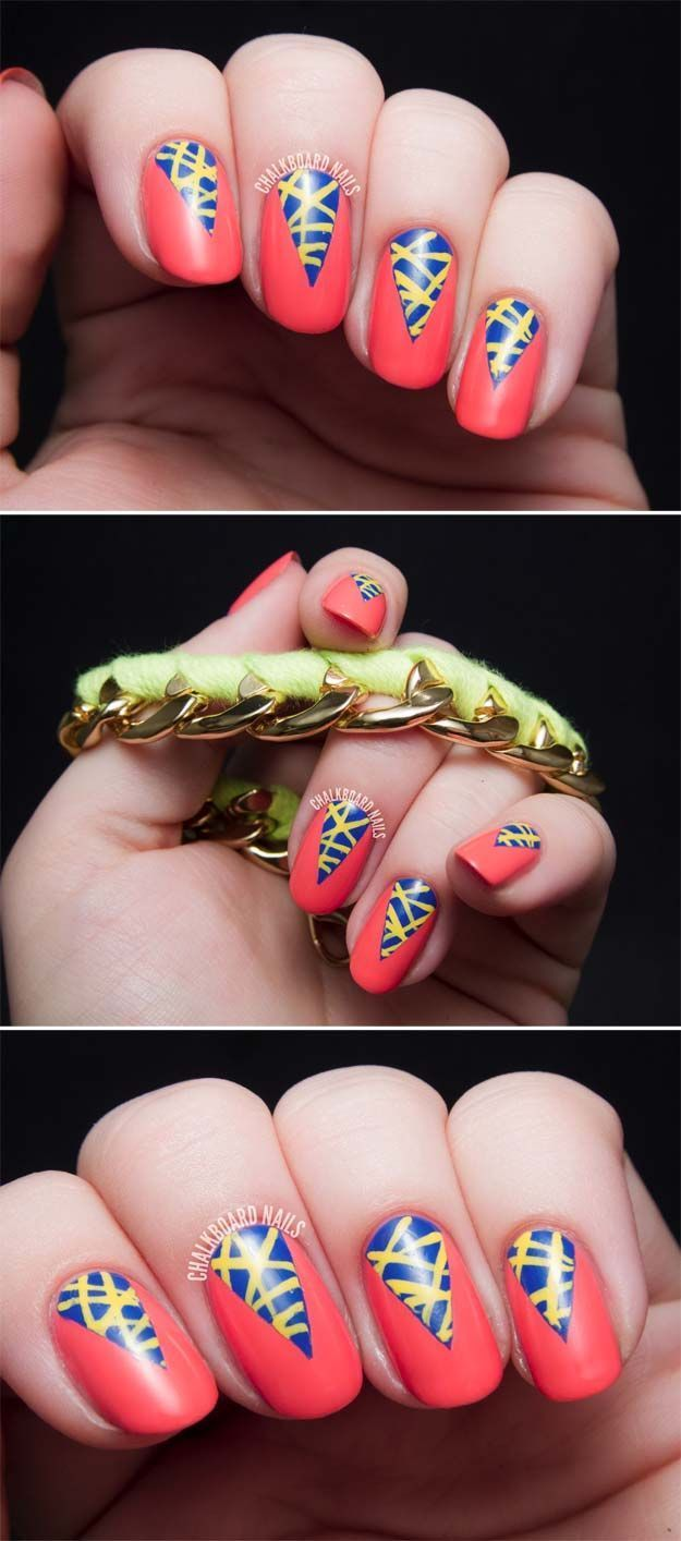 Nail Art Designs For Your Beach Vacation - TUTORIAL: Electric Summer ...