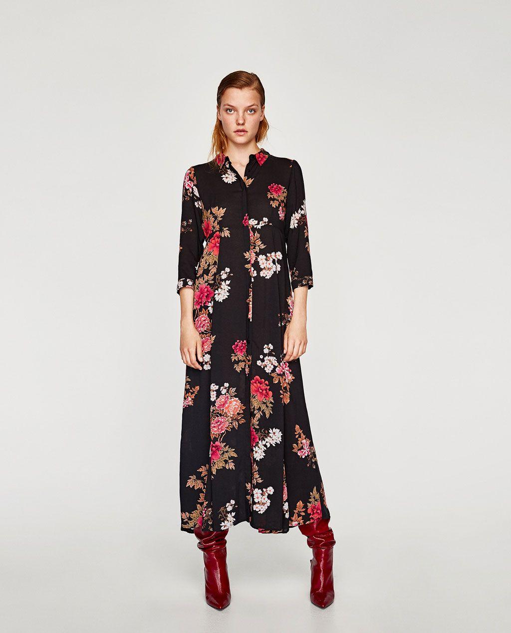 5e07ae92b9 VESTIDO LARGO ESTAMPADO FLORAL | Moda | Floral print maxi dress ...