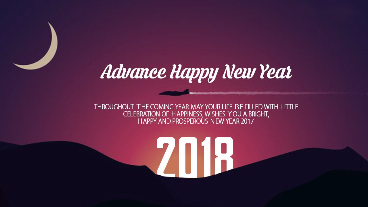 advance happy new year 2018 wishes