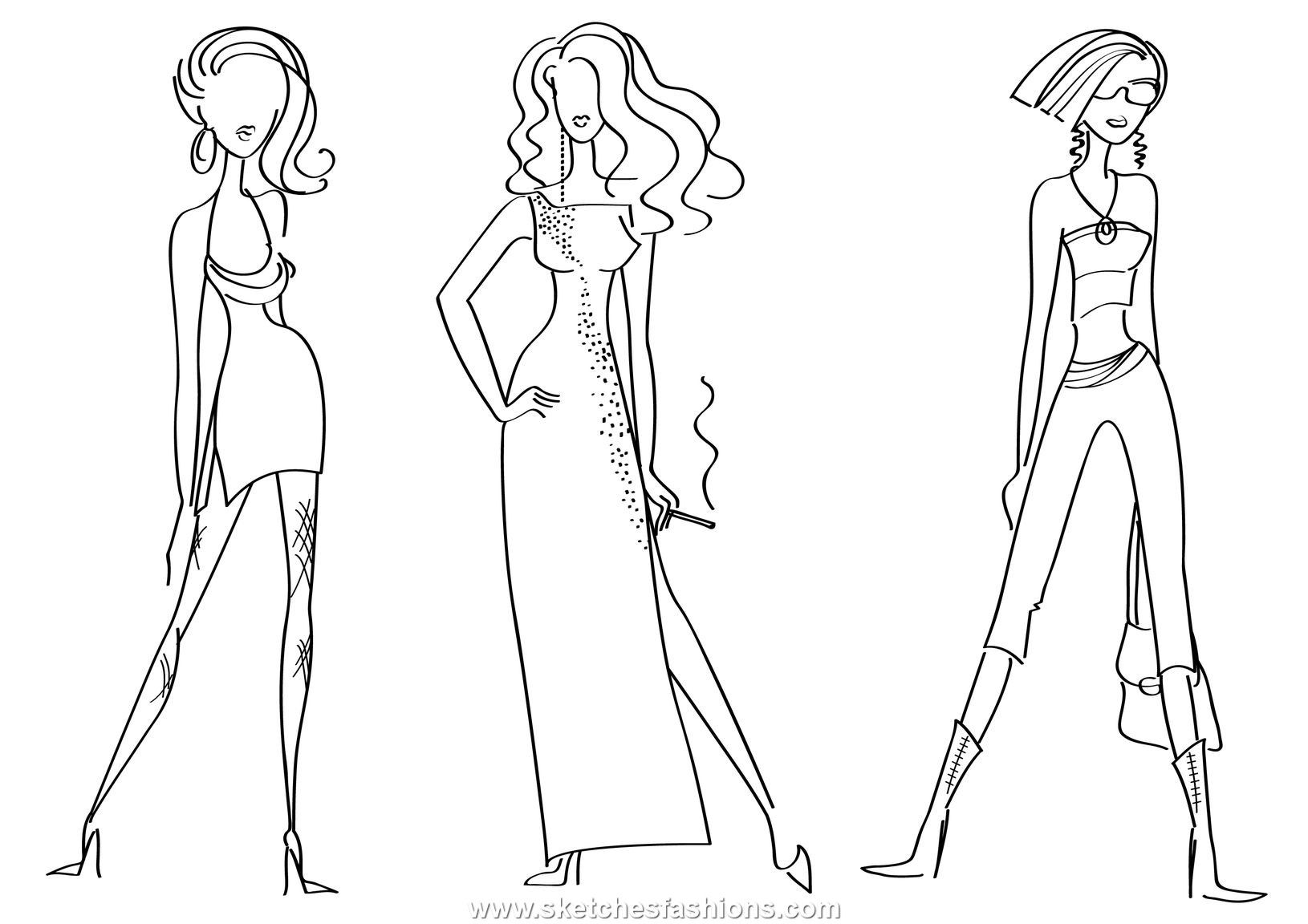 Long and short dress fashion sketch fashion pinterest fashion