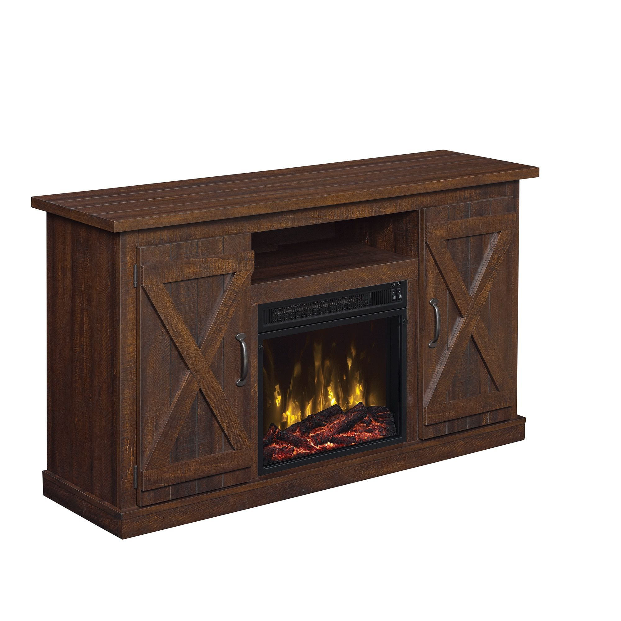 cottonwood tv stand for tvs up to 55 inches with electric fireplace