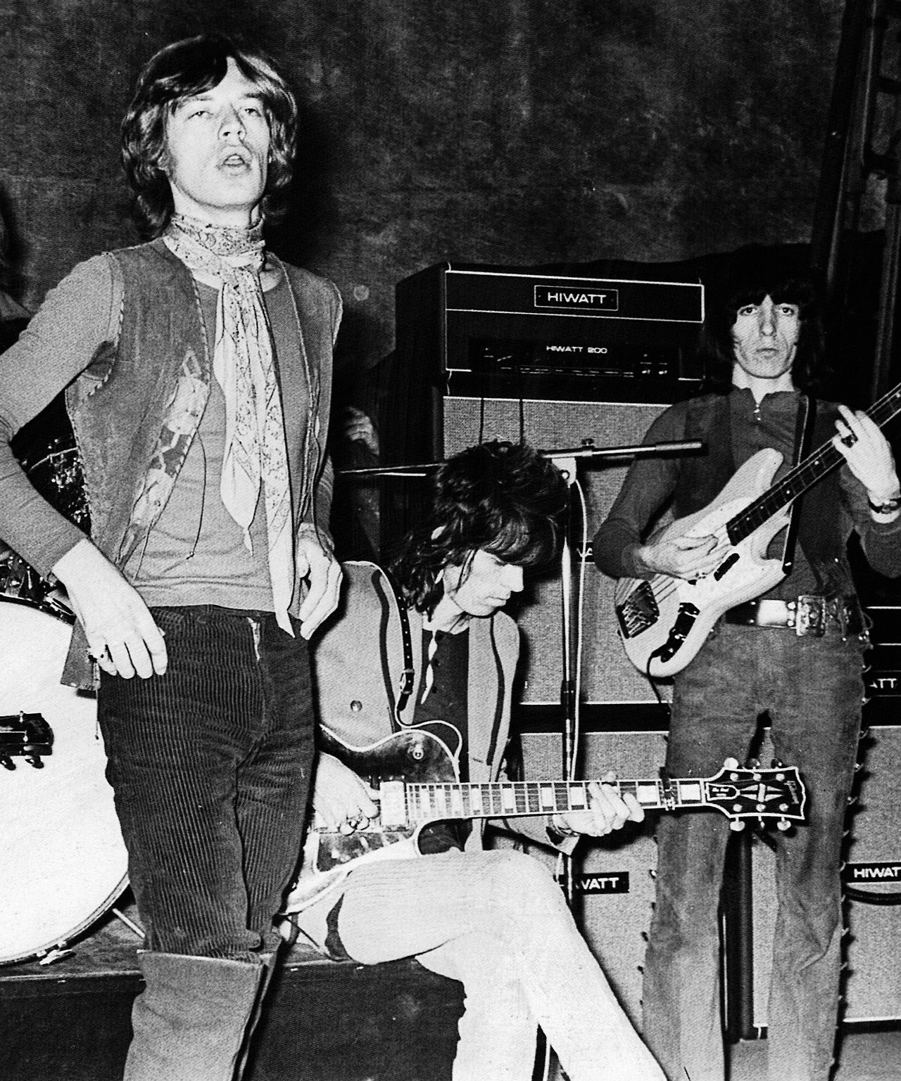 The Stones rehearse at Saville Theatre, London, December 14, 1969.