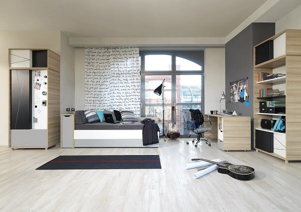 Jugendzimmer Set Komplett TraumMoebel Jugendzimmer Schwarz Weiß