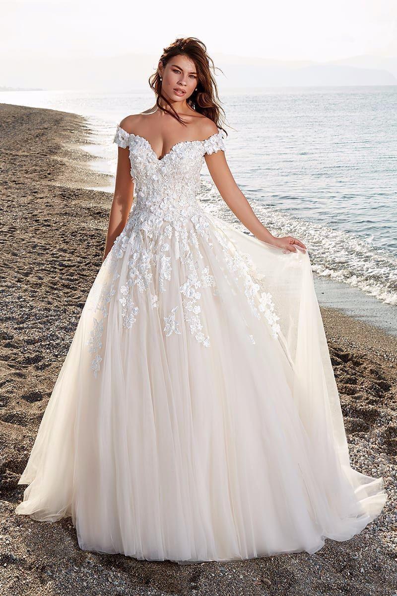 Cala by Eddy K Wedding Dress   Wedding dresses 20d flowers, Wedding ...