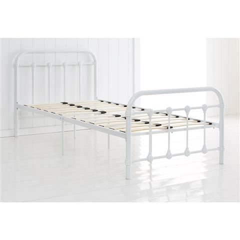 vintage style metal frame single bed white kmart 99
