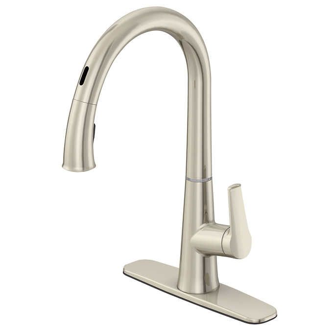 Neko Touchless Kitchen Faucet In Brushed Nickel By Waterridge