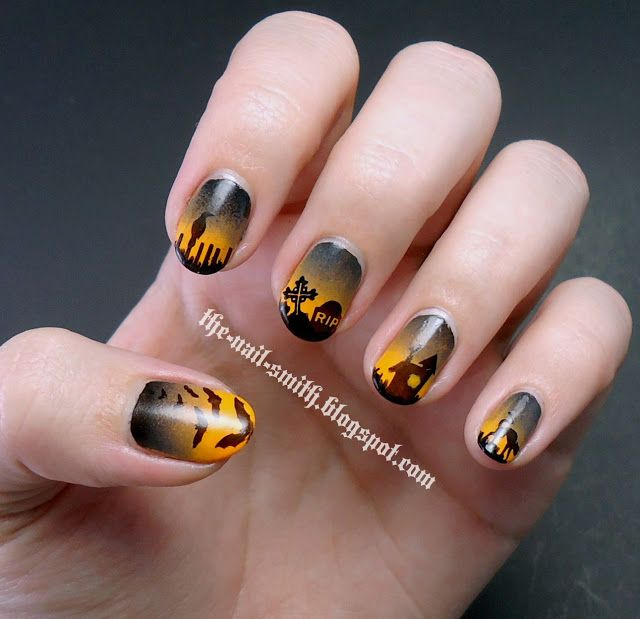 The Nail Smith: HPB Presents Halloween Silhouettes!