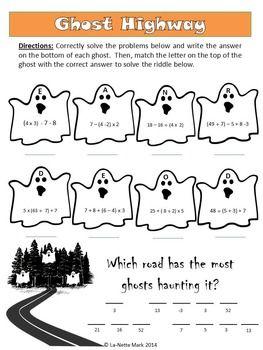 Halloween Activities - Halloween Math for Middle School | Math Stuff ...