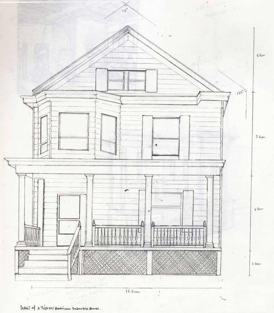 Pencil drawings of houses chinese house drawing step step clipartsco