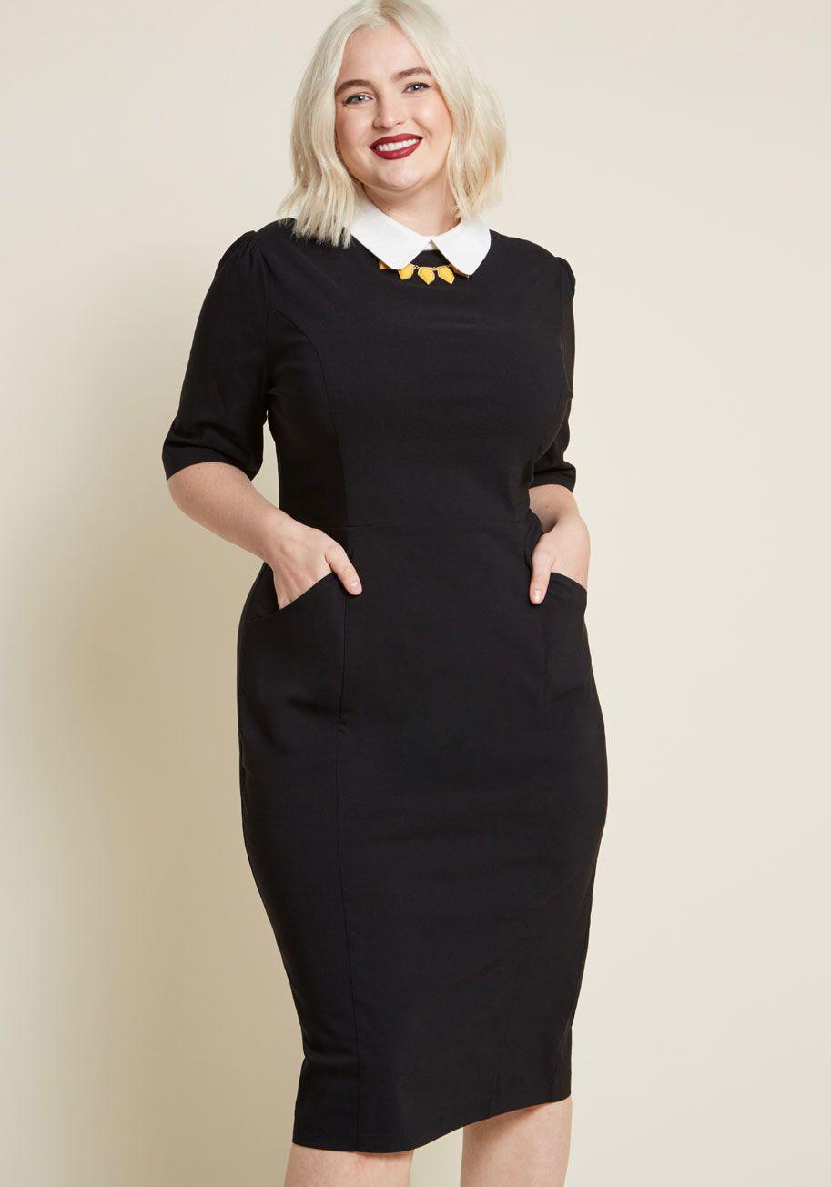 8bdf731853b Collectif Make My Wednesday Sheath Dress - Maybe this little black dress  isn t distinctly macabre