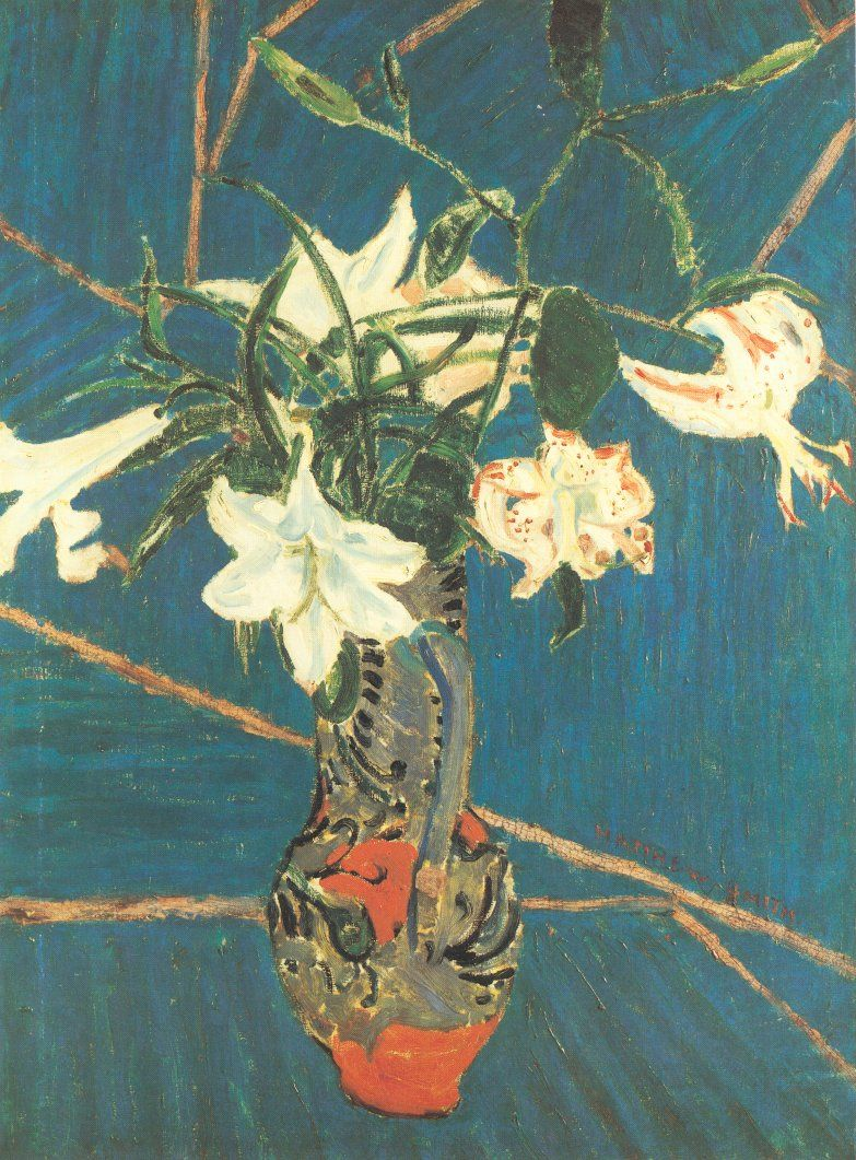 Lilies in a Vase, by Matthew Smith, circa 1914.