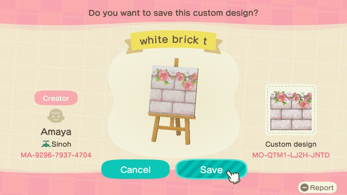 Floral Bordered Brick Path Animal Crossing Pattern Gallery Custom Designs Animal Crossing Animal Crossing Game Qr Codes Animal Crossing