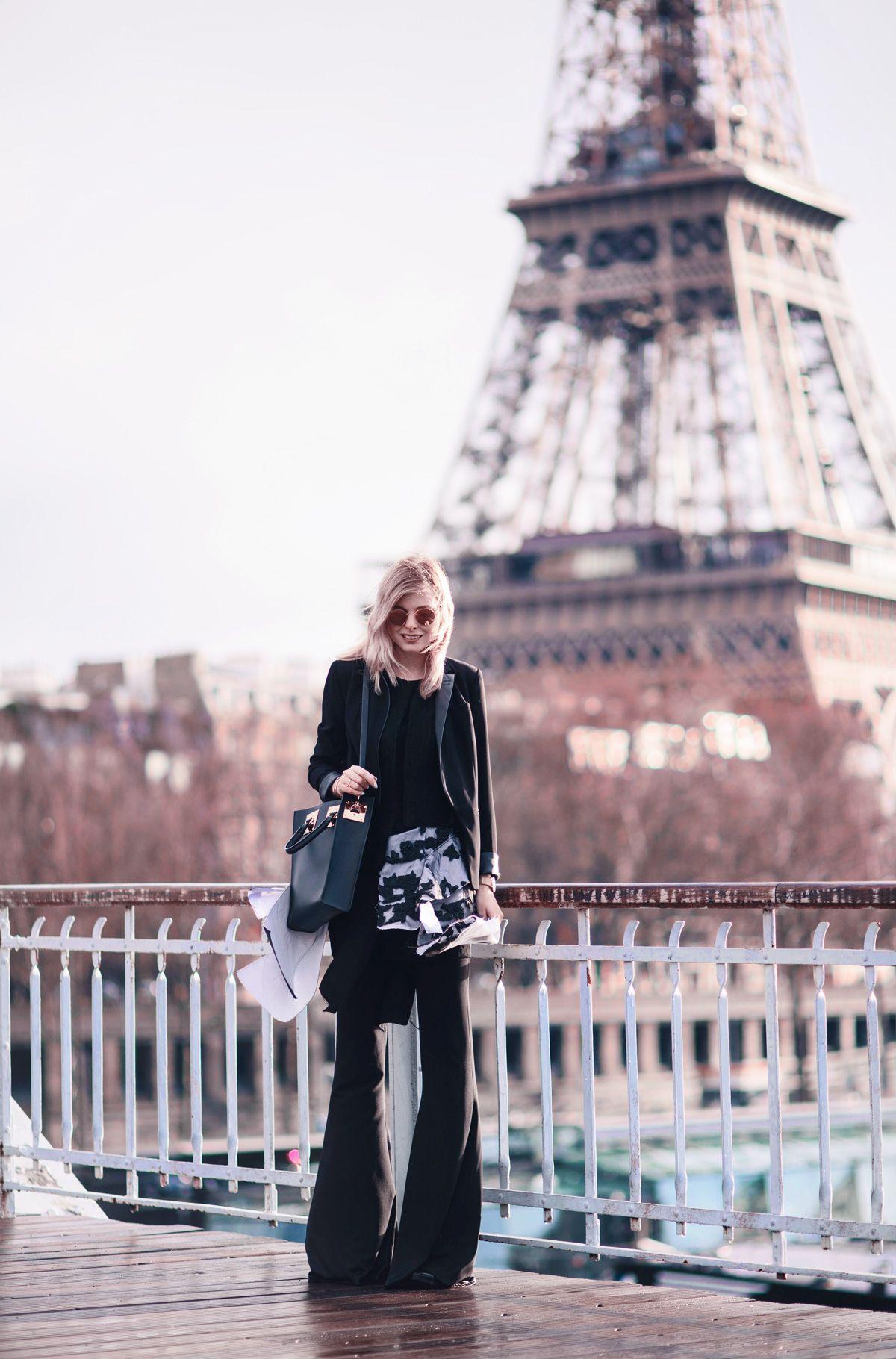 blazer*: Guess trousers*: Guess top*: Guy Laroche bag*: Sophie Hulme via Shopbop sunnies*: Ray-Ban Wenn man schon in Paris…