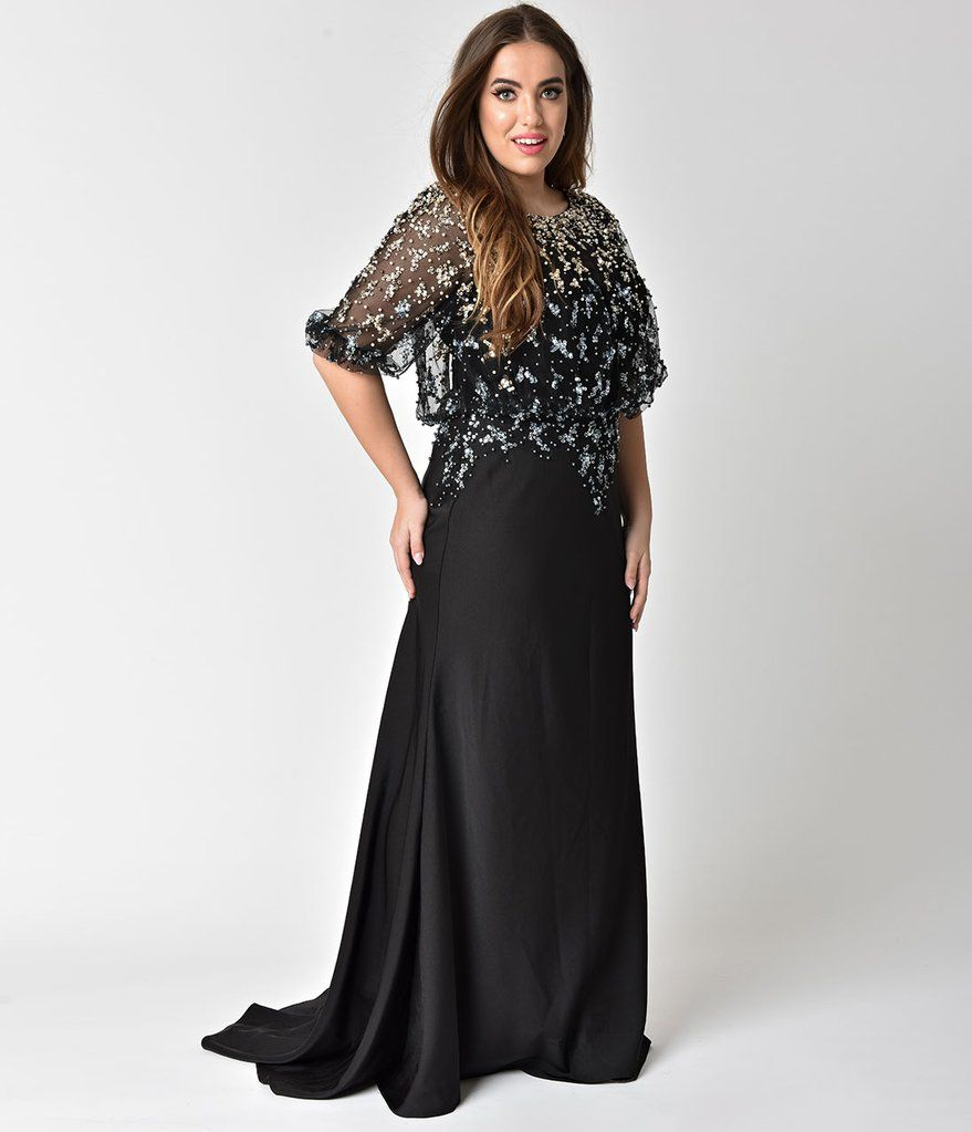 Lovedrobe Embellished Mesh Prom Dress | Plus size party