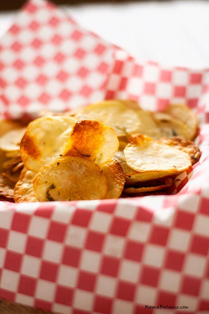 Oven Baked Rosemary Potato Chips