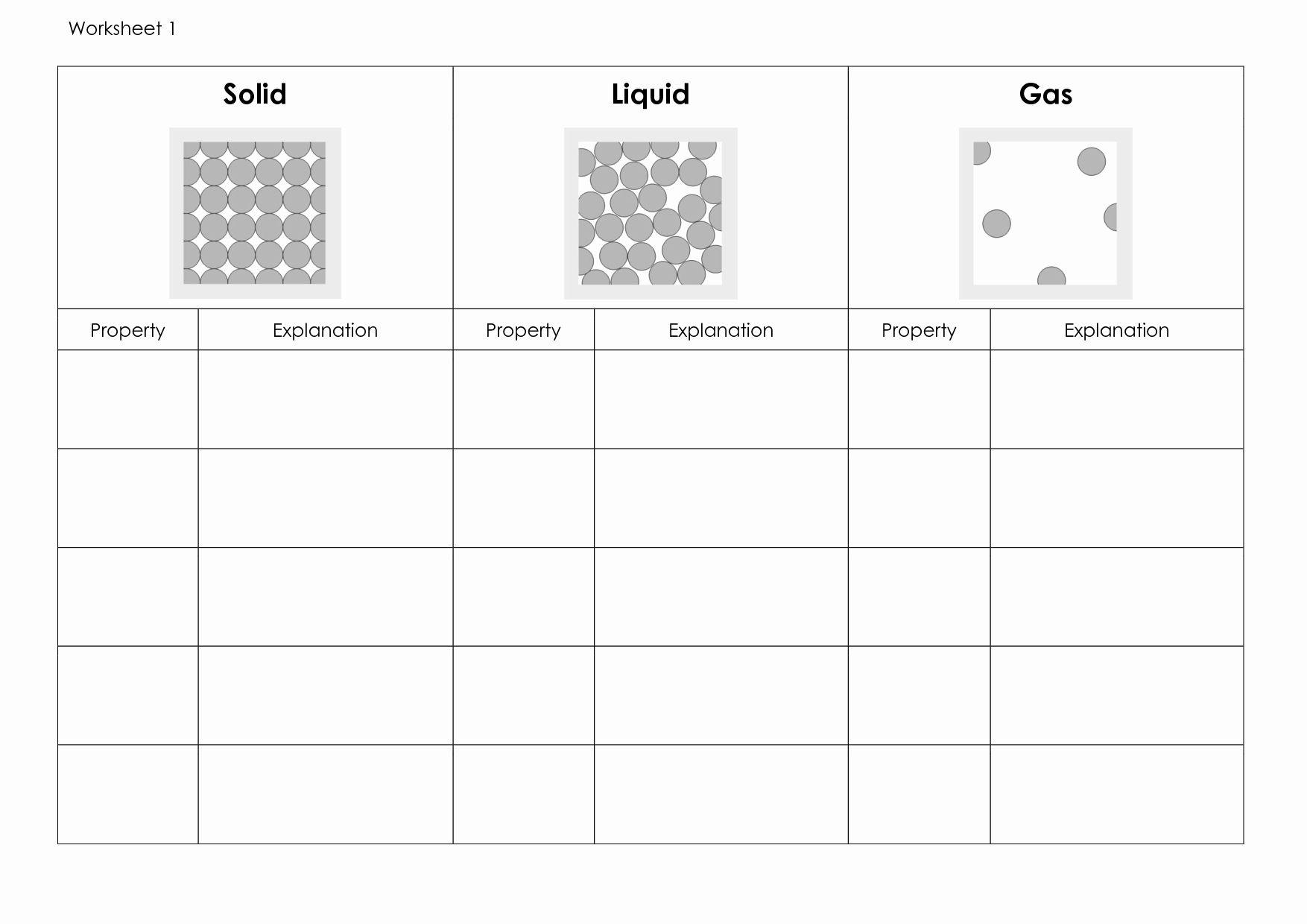 Solid Liquid Gas Worksheet Elegant 14 Best Of Health