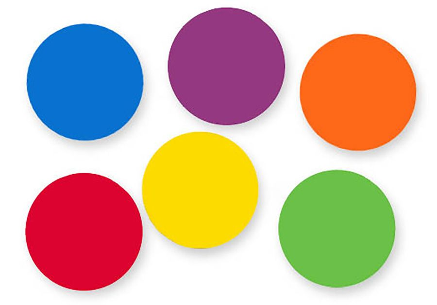 COLOR DOTS SPOT MARKERS 36 Durable Non-skid Silicone Dots