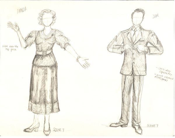 The Glass Menagerie By Lindsay Beardall Amanda Jim The Glass Menagerie Glass Humanoid Sketch
