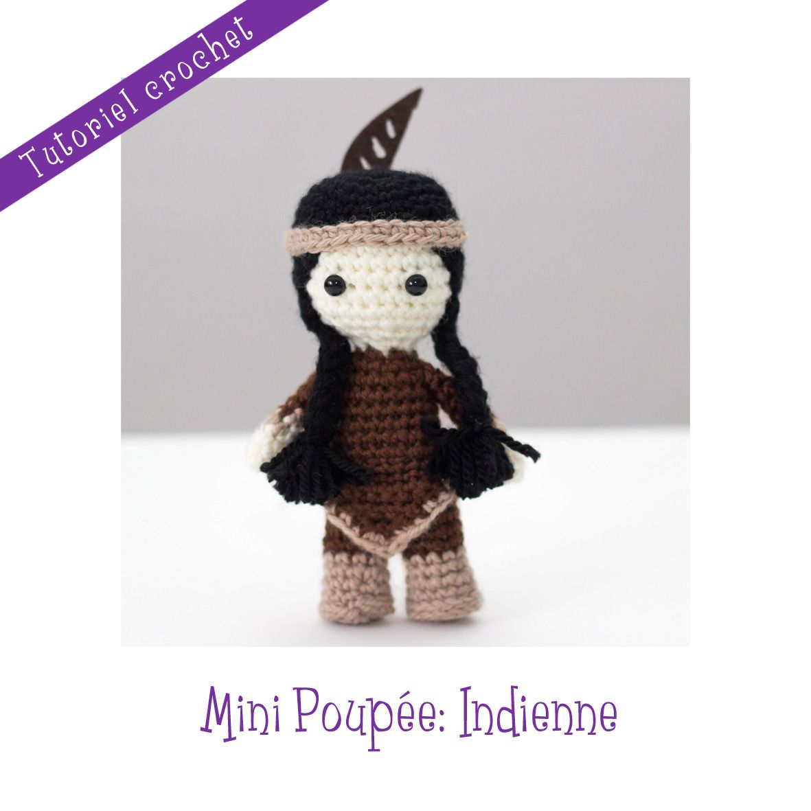 Patron crochet : Mini Poupée Indienne : Tutoriels de fabrication par ...