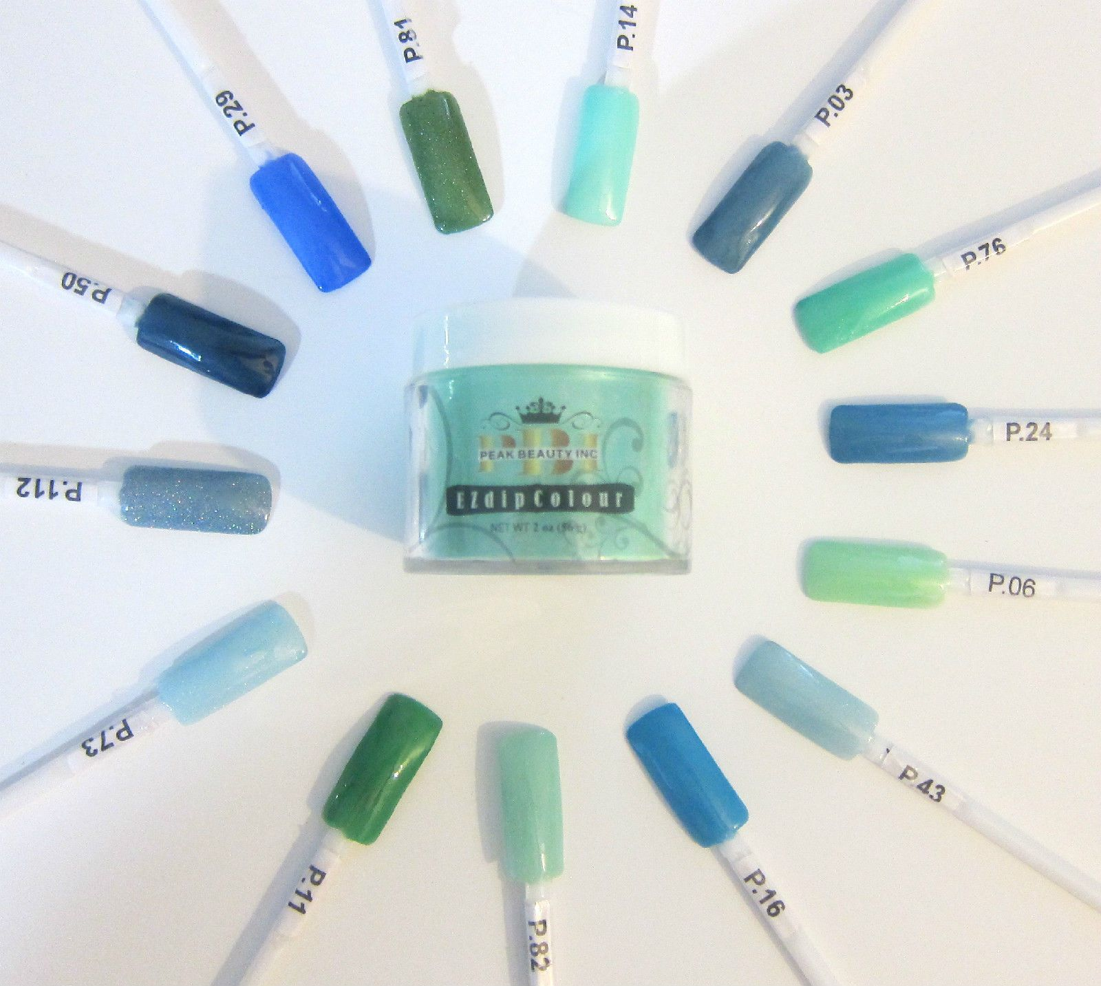 EZ Dip Nail Dip Powder - Blue Color Wheel - so many pretty colors ...