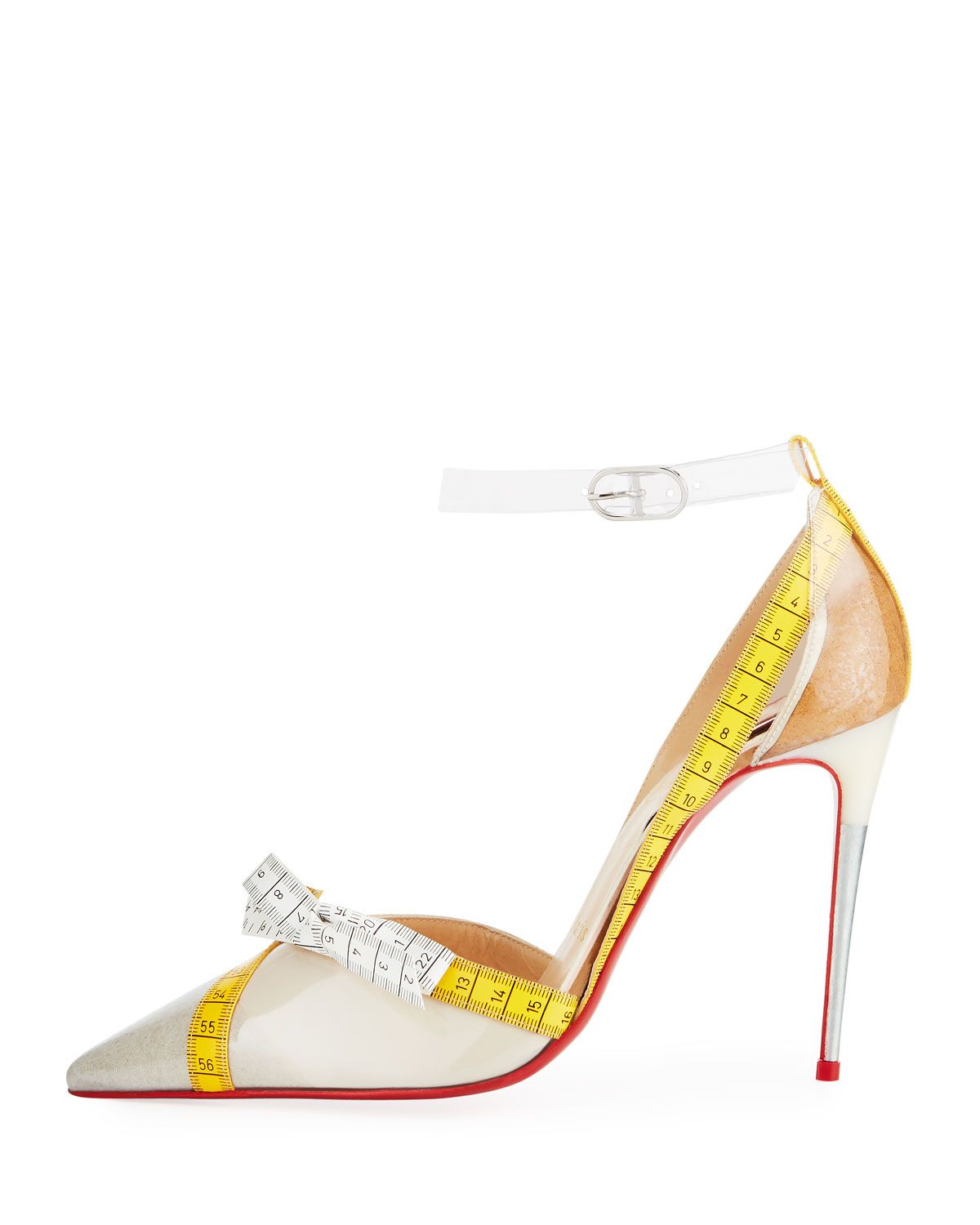 956587e6a19 Christian Louboutin Metripump Measuring Tape Patent Red Sole Pumps ...