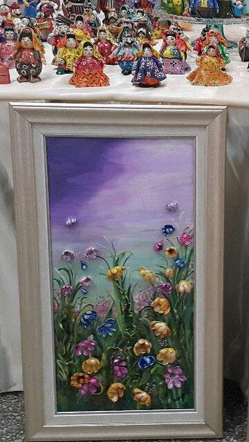 Tutkal Hamuru Ile çalıştığım Kır çiçekleri çalişmam El Sanatları