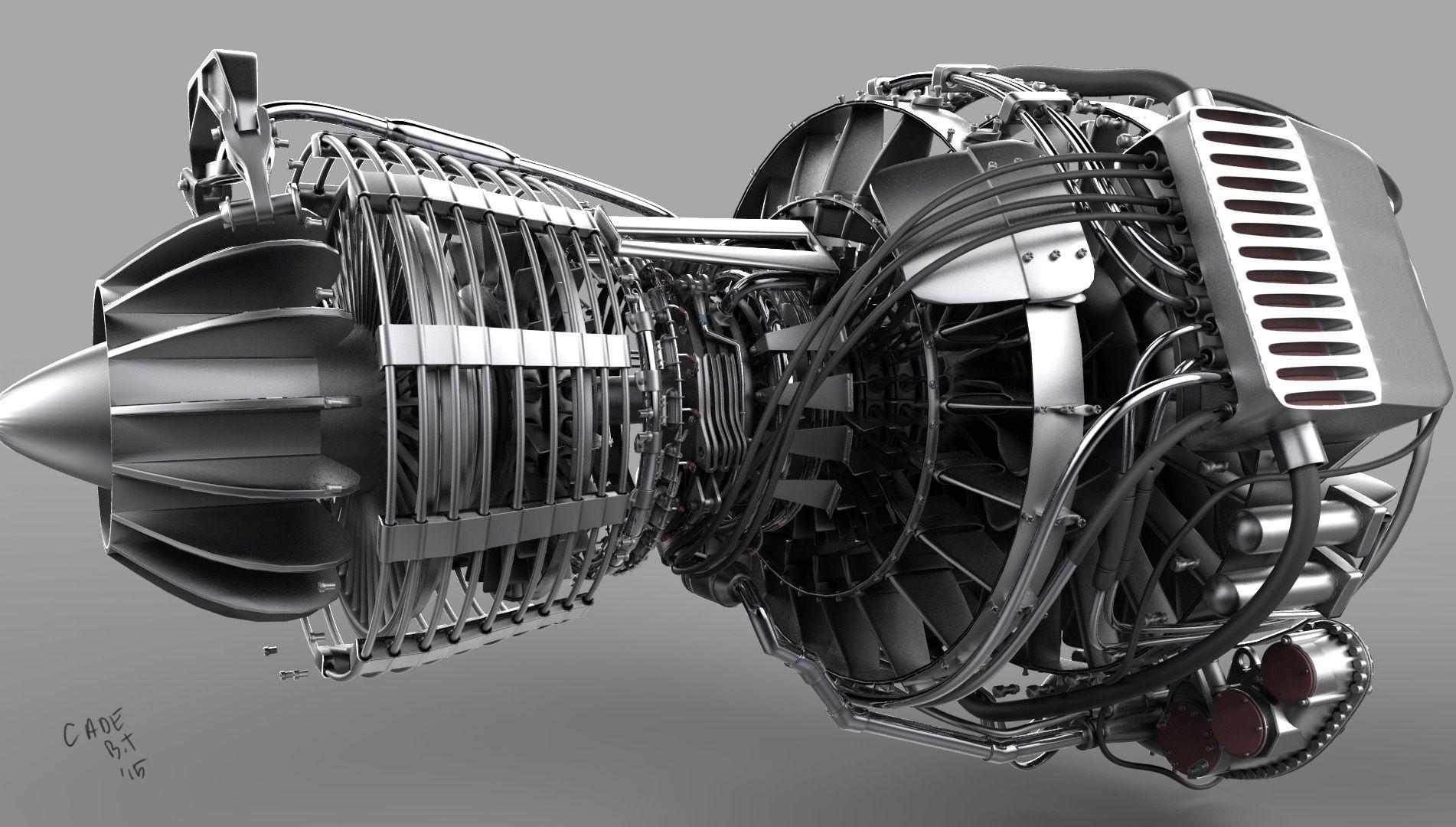 Turbofan Jet Engine Jet Engine Engineering Aircraft Design