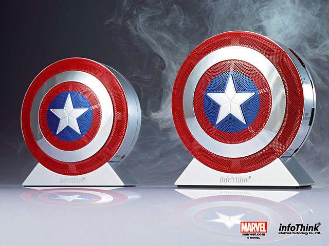 infoThink Captain Amereica 2 The Winter Soilder Bluetooth Speaker X Power Bank - $172-200 ???!!!???