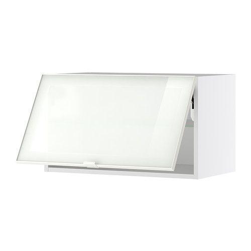 Ikea Vitrinentür faktum wandschrank horiz m vitrinentür rubrik weißes glas 70x40