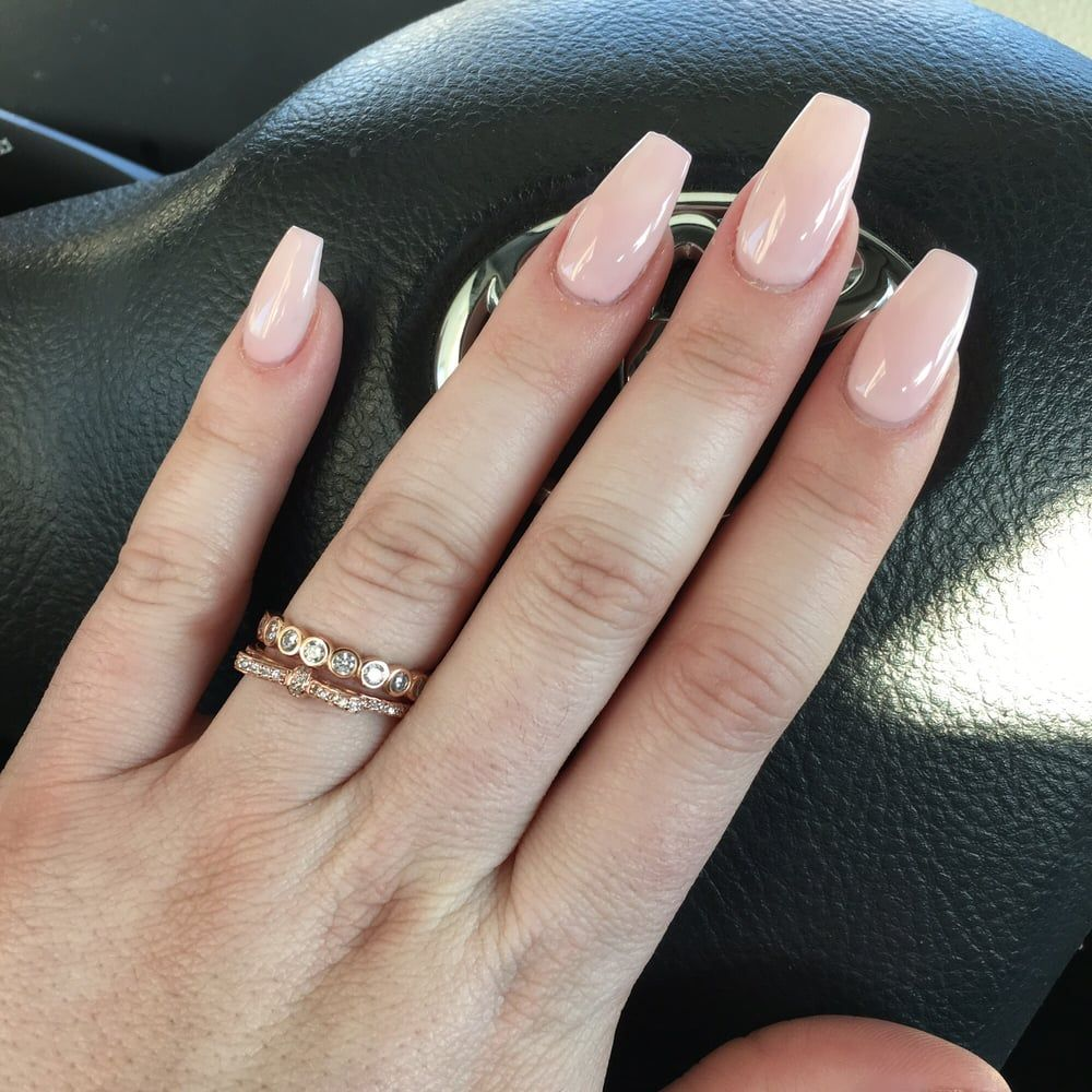 Photos For Bella Vous Nails Spa Yelp Ballerina Nails Shape Acrylic Nail Shapes Ballerina Nails