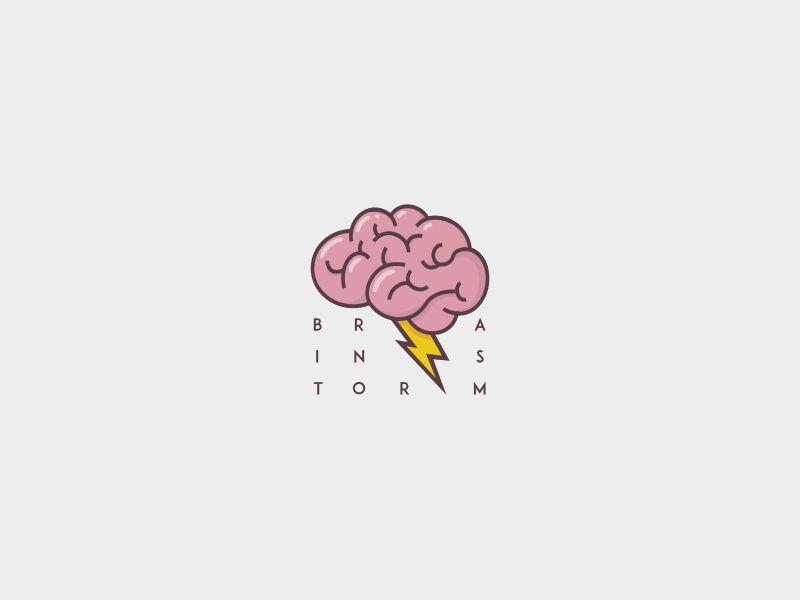Brainstorm Logo In 2021 Brain Logo Logo Design Inspiration Creative Logo Design Art