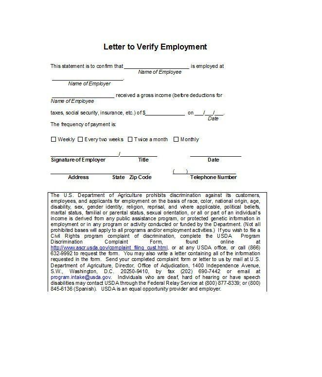 Proof of employment letter 07 dresser design Pinterest - employment verification letter