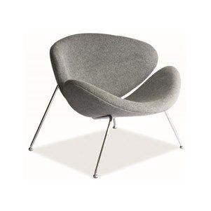 fauteuil design najar tissu gris Achat Vente fauteuil Gris