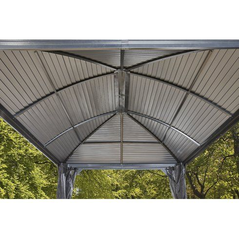 Moreno 10 Ft W X 12 Ft D Metal Permanent Gazebo Gazebo Garden Gazebo Patio Gazebo