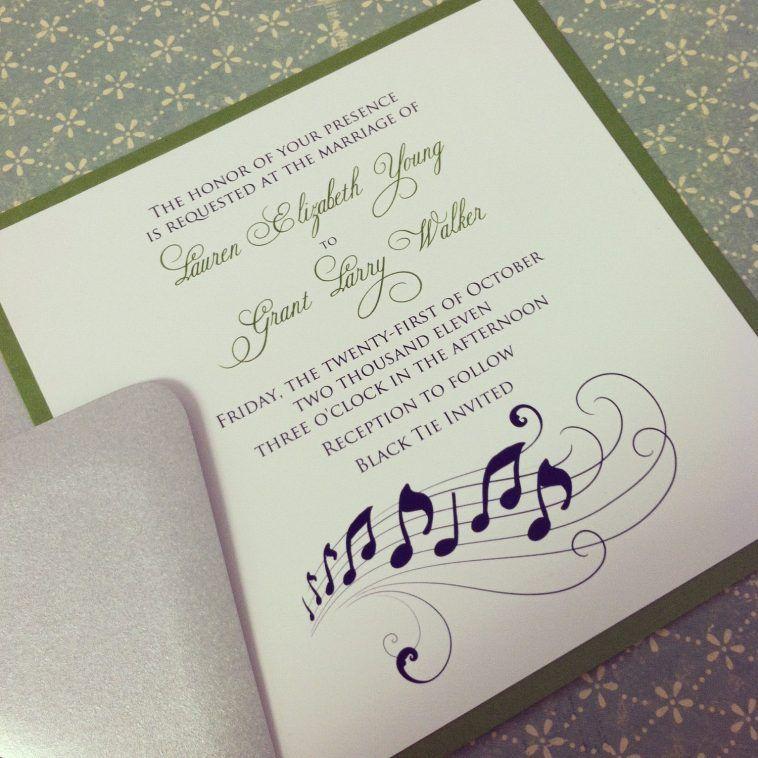 Music Note Wedding Invitation Suite The Grant