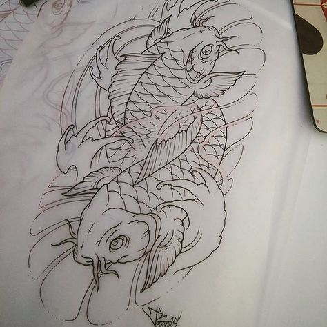 Koi fish drawing artist on instagram pinterest for Coy fish drawing