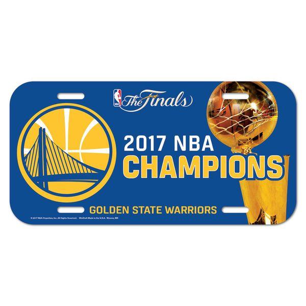Golden State Warriors WinCraft 2017 NBA Finals Champions Plastic License Plate - $5.99