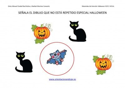 Materiales De Atencion Selectiva Fichas Halloween Primaria E Infantil Halloween Fichas Dibujo De Escuela