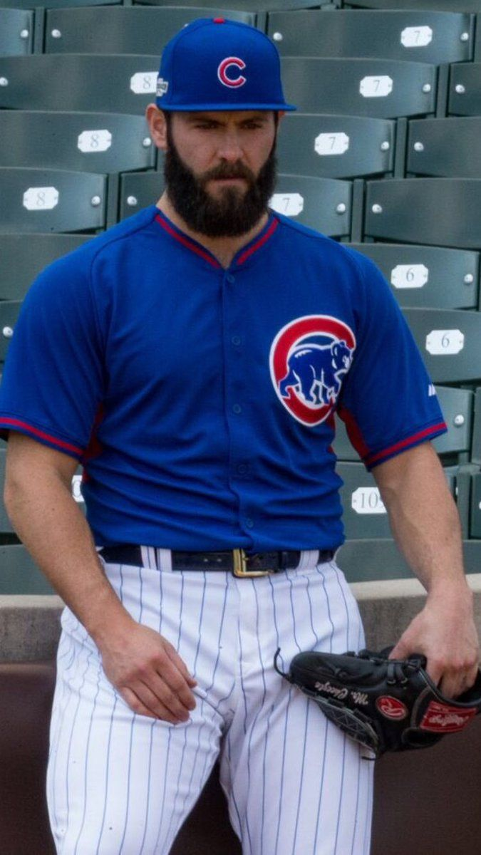 42091c2434f Jake Arieta. Saw this magnificent bearded specimen pitching in the World  Series this week. My husband was surprised why I became so interested in  the game ...