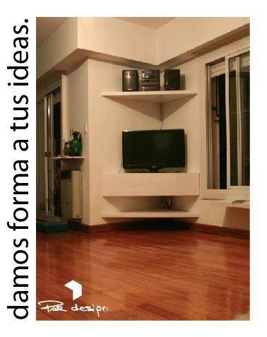 Esquinero Home decor Pinterest Tv, Mueble tv y Tv de esquina