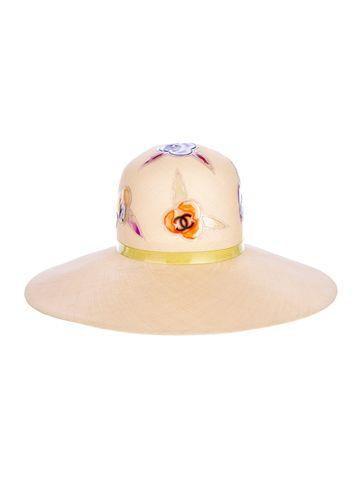Coco Approved  Chanel Camellia Sun Hat.  fa82c4e98