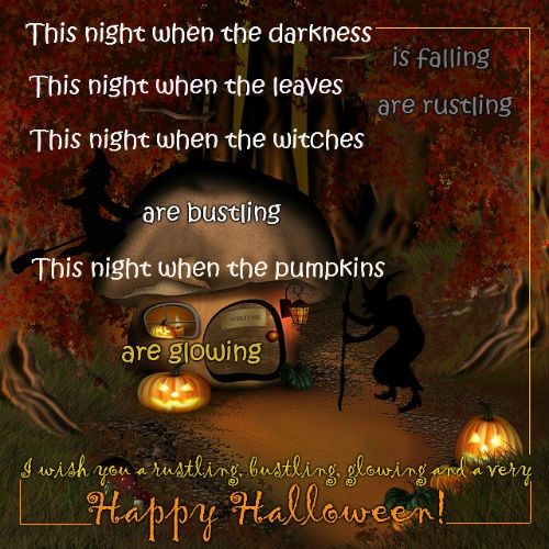 Wish Your Friends Happy Halloween With This Spooky Witchy Halloween Card.  Free Online Spooky Witchy Halloween Ecards On Halloween