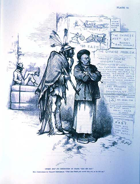 Virtual Exhibitions Immigration And Caricature Every Dog No Distinction In Color Has His Day American Cartoons American History Cartoon