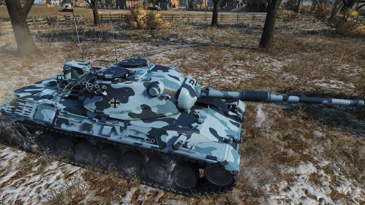 WoT Leopard 1 (skin) 11 041 DMG - Erlenberg | World of Tanks