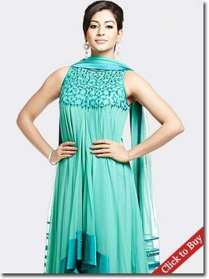 Satyapaul-Sky blue - Anarkali with resham embroidery | Love for all ...