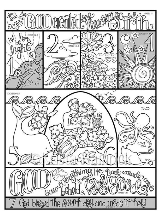 Days Of Creation Coloring Page 8211 Creation Coloring Pages En 2020 Historias De La Biblia Para Ninos Biblia Para Ninos Biblia Dibujos