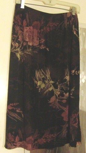 FRENCH LAUNDRY ~ Slinky Skirt ~ Fall Colors ~ sz. Lg | eBay