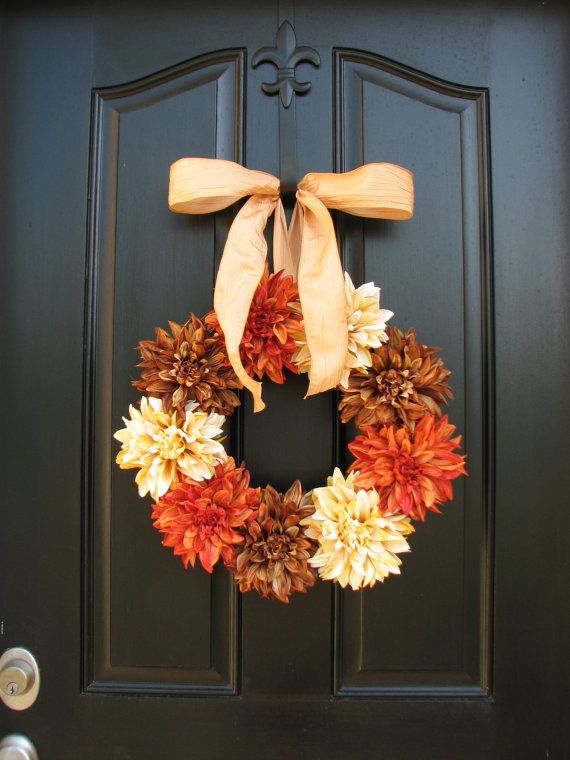 Thanksgiving Decor, Autumn Spice, Fall, Autumn Wreaths, Fall Decor, Front Door Wreaths, Holidays, Thanksgiving, Harvest