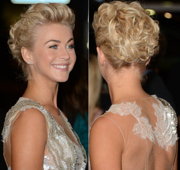 Julianne Hough Hair Front And Back In 2019 Curly Hair